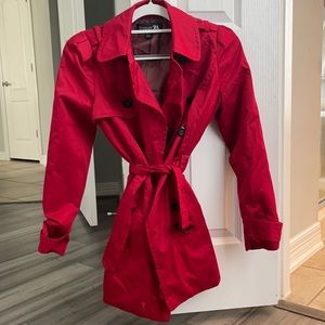 Like New Red Trench Coat!